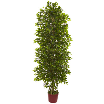6 Four Tier Mini Ficus Artificial Tree UV Resistant Indoor/Outdoor - SKU #5492