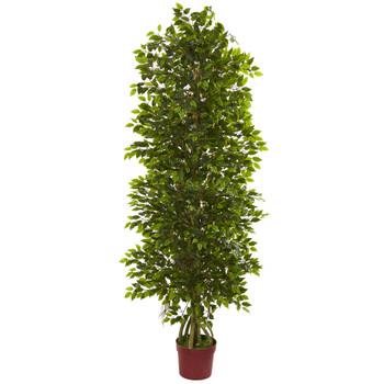 6 Four Tier Mini Ficus Artificial Tree UV Resistant Indoor/Outdoor - SKU #5492