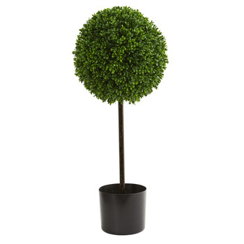 2.5 Boxwood Ball Artificial Topiary Tree UV Resistant Indoor/Outdoor - SKU #5493