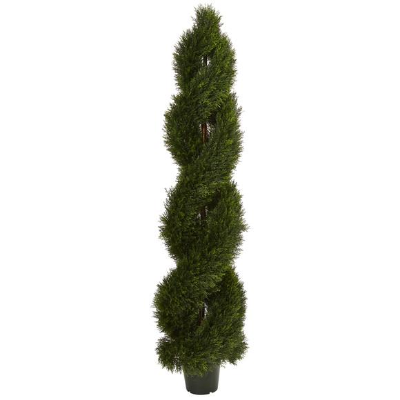 6 Double Pond Cypress Spiral Topiary UV Resistant Indoor/Outdoor - SKU #5496