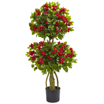 4 Double Bougainvillea Artificial Topiary Tree - SKU #5507