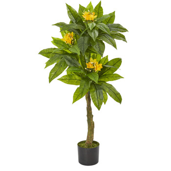 4 Plumeria Artificial Tree UV Resistant Indoor/Outdoor - SKU #5509