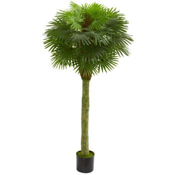 Fan Palm Artificial Tree UV Resistant Indoor/Outdoor - SKU #5512