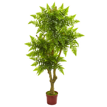 5.5 Boston Fern Artificial Tree UV Resistant Indoor/Outdoor - SKU #5513