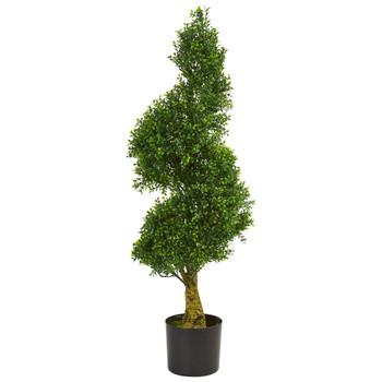 4 Spiral Boxwood Artificial Tree UV Resistant Indoor/Outdoor - SKU #5517