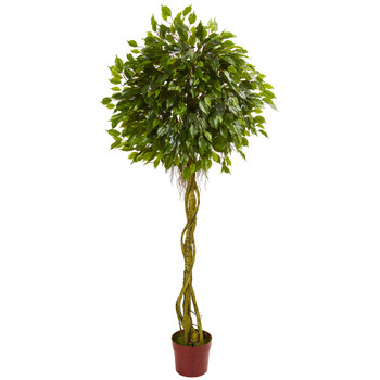 6 Ficus Artificial Topiary Tree UV Resistant Indoor/Outdoor - SKU #5528
