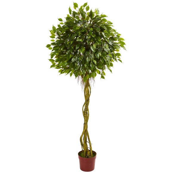 6 Ficus Artificial Topiary Tree UV Resistant Indoor/Outdoor - SKU #5528