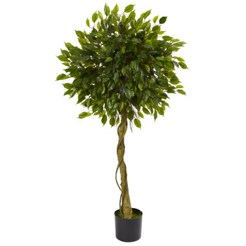 5 Ficus Artificial Topiary Tree UV Resistant Indoor/Outdoor - SKU #5529