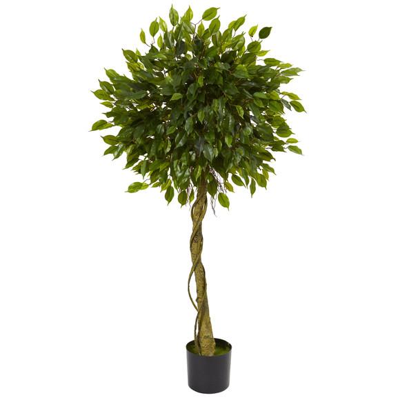 5 Ficus Artificial Topiary Tree UV Resistant Indoor/Outdoor - SKU #5529