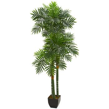 5.5 Triple Areca Palm Artificial Tree - SKU #5534