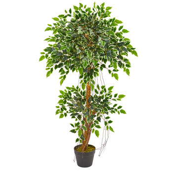 4 Variegated Ficus Artificial Tree - SKU #5544
