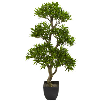 37 Bonsai Styled Podocarpus Artificial Tree - SKU #5553