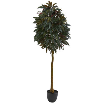 6 Red Mango Leaf Artificial Tree - SKU #5555