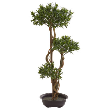 46 Bonsai Styled Podocarpus Artificial Tree - SKU #5556