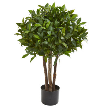 37 Bay Leaf Topiary Artificial Tree - SKU #5566