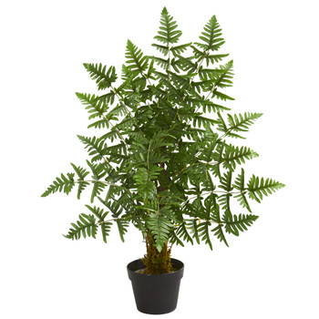 3 Ruffle Fern Artificial Palm Tree - SKU #5580