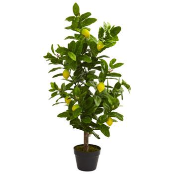 3 Lemon Artificial Tree - SKU #5581