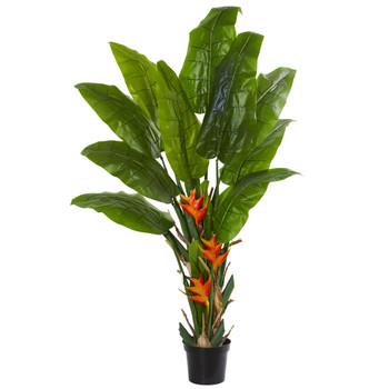 Flowering Travelers Palm Artificial Tree - SKU #5596