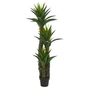 5 Decorative Yucca Artificial Tree in Black Planter - SKU #5608