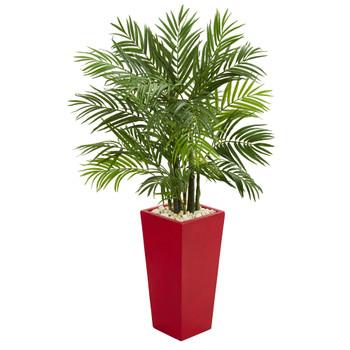 4.5 Areca Plam Artificial Tree in Red Planter - SKU #5615