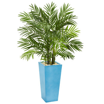 4.5 Areca Plam Artificial Tree in Turquoise Planter - SKU #5629
