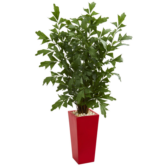 4.5 Fishtail Artificial Palm Tree in Red Planter - SKU #5633