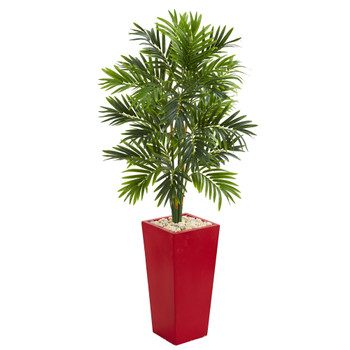 4.5 Areca Artificial Palm Tree in Red Planter - SKU #5635