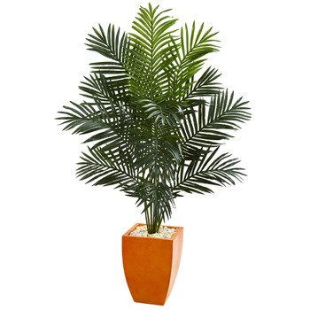 5.5 Paradise Artificial Palm Tree in Orange Planter - SKU #5638
