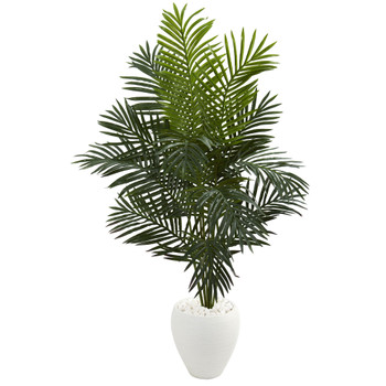 5.5 Paradise Artificial Palm Tree in White Planter - SKU #5639