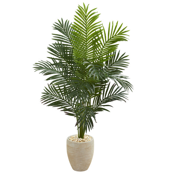 5.5 Paradise Artificial Palm Tree in Sand Colored Planter - SKU #5641