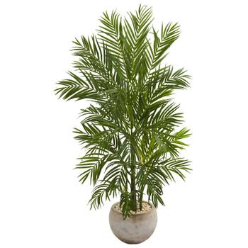5 Areca Palm Artificial Tree in Bowl Planter - SKU #5646