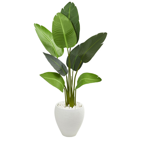 4 Travelers Artificial Palm Tree in Oval Planter - SKU #5664