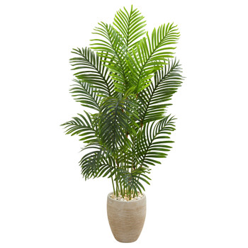 5 Paradise Palm Artificial Tree in Sand Colored Planter - SKU #5671