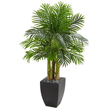 Kentia Palm Artificial Tree in Black Planter - SKU #5673