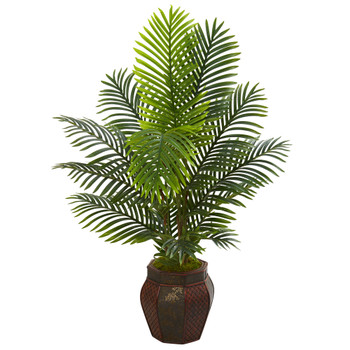 4.5 Paradise Palm Artificial Tree in Decorative Planter - SKU #5684