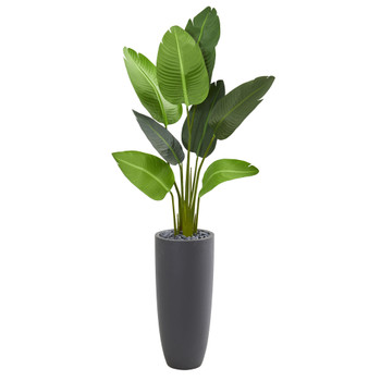 5.5 Travelers Palm Artificial Tree in Gray Planter - SKU #5686