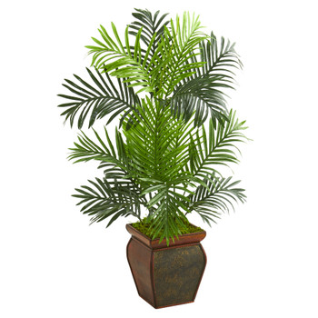3 Paradise Palm Artificial Tree in Decorative Planter - SKU #5689