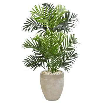 Paradise Palm Artificial Tree in Sand Colored Planter - SKU #5690