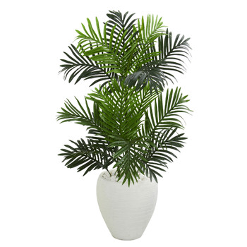 Paradise Palm Artificial Tree in White Planter - SKU #5691