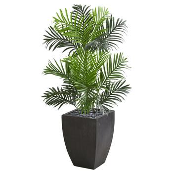 Paradise Palm Artificial Tree in Black Planter - SKU #5692
