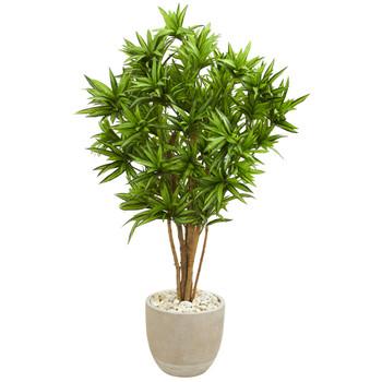 Dracaena Artificial Tree in Sandstone Planter - SKU #5699