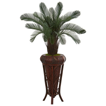 4 Cycas Artificial Tree in Decoorative Stand UV Resistant Indoor/Outdoor - SKU #5709