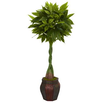 5 Money Artificial Tree in Decorative Planter - SKU #5712