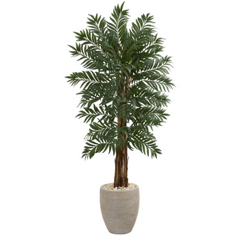 5 Parlor Artificial Palm Tree in Decorative Planter - SKU #5722
