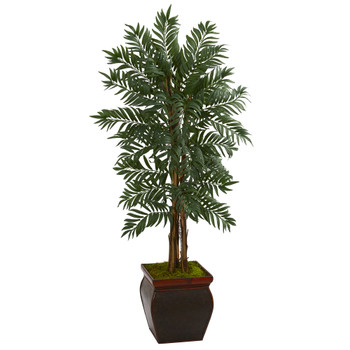 5 Parlor Palm Artificial Tree in Decorative Planter - SKU #5728