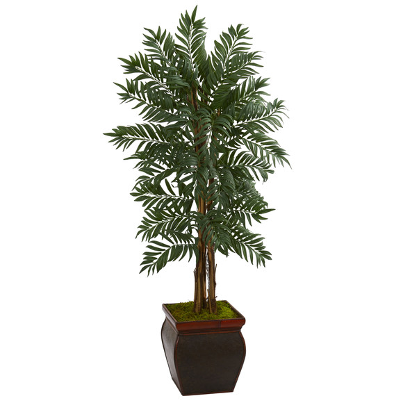 5 Parlor Palm Artificial Tree in Decorative Planter - SKU #5728