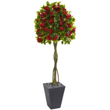 6 Bougainvillea Artificial Tree in Slate Planter - SKU #5748