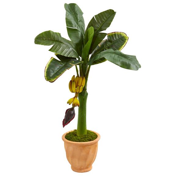 3 Banana Artificial Tree in Terracotta Planter - SKU #5796