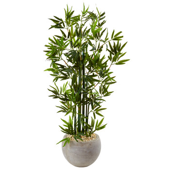 4 Bamboo Tree in Sand Colored Bowl - SKU #5800