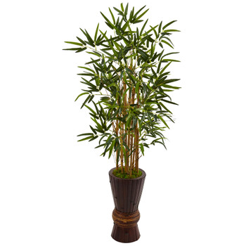 4.5 Bamboo Tree in Bamboo Planter - SKU #5801